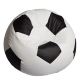 "Bean Bag Soccer Ball ""Fotbalul Big White & Black"""