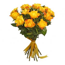 15 Trandafiri oranj