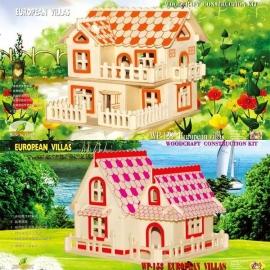 3D puzzle casuta din lemn 03