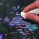 "Harta ""Scratch Map"" Capital Edition"