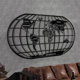 Panou metal Retro  Harta Lumii