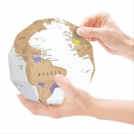 "3D Scratch globe ""True World"""