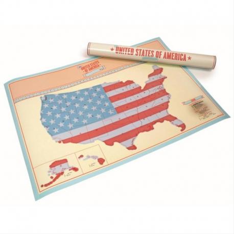 Scratch Map USA