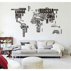 """Виниловая наклейка """" Карта мира """""""