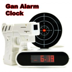 """Часы - будильник """" Пистолет с мишенью """""""