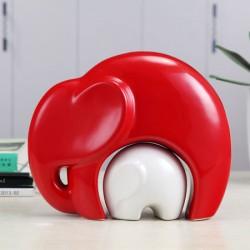 Elefanti decorativi ceramici (01)
