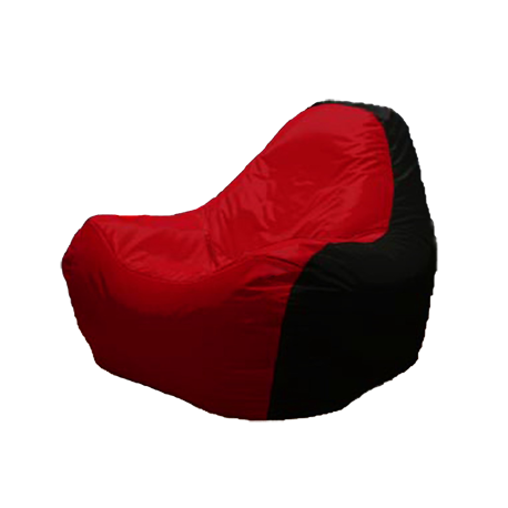 Scaun fără ramă HiPoly Black & Red