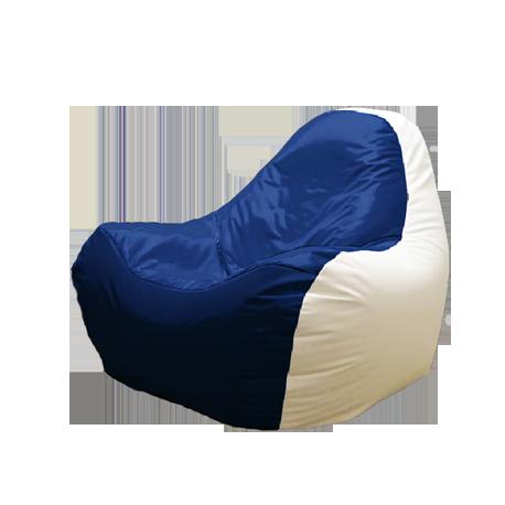 Bean Bag fără ramă HiPoly White&Blue
