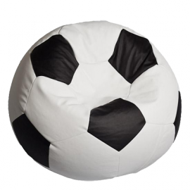 "Кресло мешок Bean Bag Футбольный Мяч ""Football BIG White&Black"""