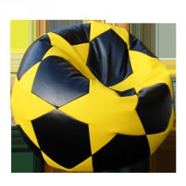 """Кресло мешок Футбольный Мяч """"Football BIG STAR Black&Yelow"""""""