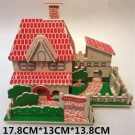 """3D puzzle lemn """" Auto"""" 01"""