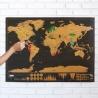 Скретч карта мира black