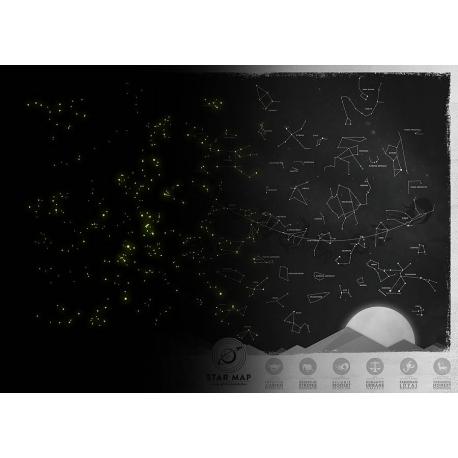 "Harta cu constelatii "" Luckies Star Map """