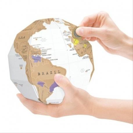 """3D Scratch globe """"True World"""""""