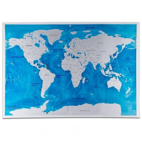 "Harta  Scratch Map ""Ocean Edition"""