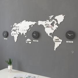 Настенные часы карта мира