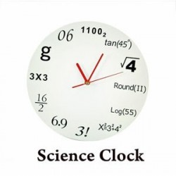 Ceas de perete cu ecuatii matematice